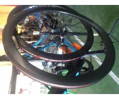 CNC wheelset carbon dimpled