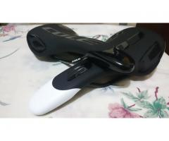 Brand New COLE MTB/Road Compatible Saddle - Black and White color