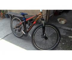 corratec mountain bike with accesories and extra off ride tire