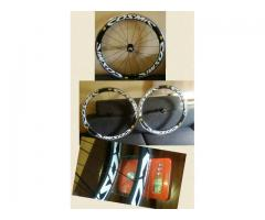 Brandnew 700x23c carbon wheelset aluminum braking surface