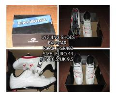 cycling shoes & jersey/shorts